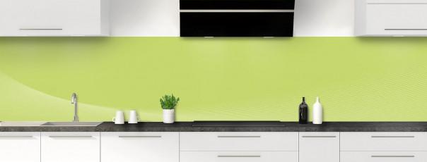 Crédence de cuisine Ombre et lumière couleur vert olive panoramique