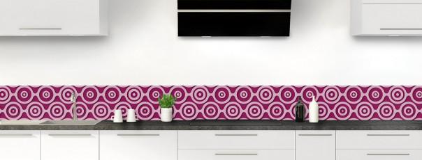 Crédence de cuisine Papier peint rétro couleur prune dosseret