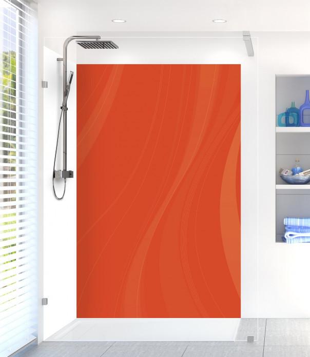 Panneau de douche Voilage couleur rouge brique motif inversé