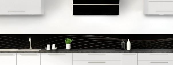 Crédence de cuisine Courbes couleur noir dosseret