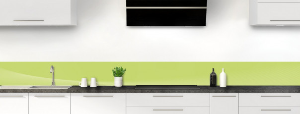 Crédence de cuisine Ombre et lumière couleur vert olive dosseret