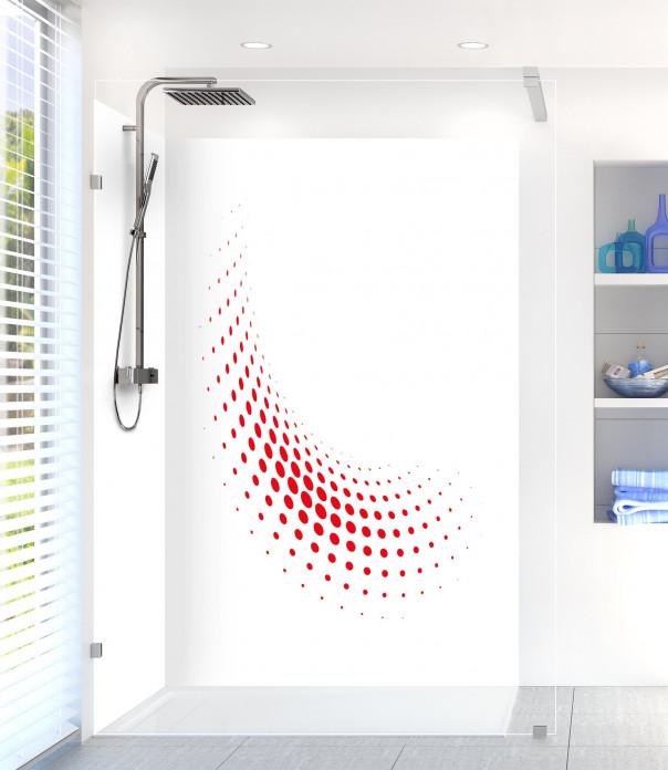 Panneau de douche Nuage de points couleur rouge vif