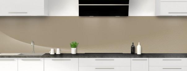 Crédence de cuisine Ombre et lumière couleur marron glacé panoramique