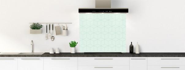 Crédence de cuisine Cubes en relief couleur vert eau fond de hotte
