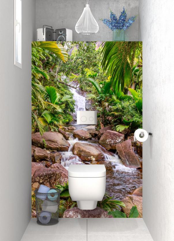 Panneau WC Ruisseau tropical motif inversé