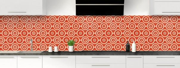 Crédence de cuisine Papier peint rétro couleur rouge brique panoramique