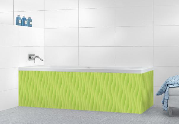 Panneau tablier de bain Ondes couleur vert olive