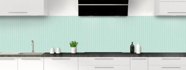Crédence de cuisine Pointillés couleur vert pastel panoramique