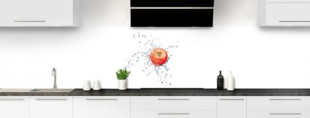 Crédence de cuisine Aqua et tomate panoramique