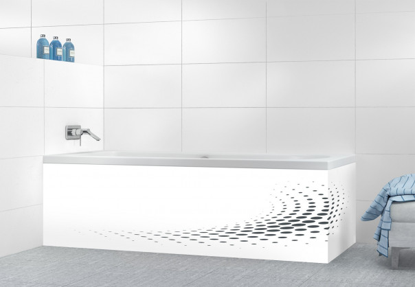 Panneau tablier de bain Nuage de points couleur gris carbone