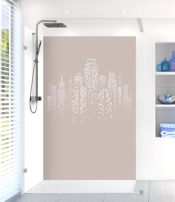 Panneau de douche Gratte-ciels couleur argile motif inversé