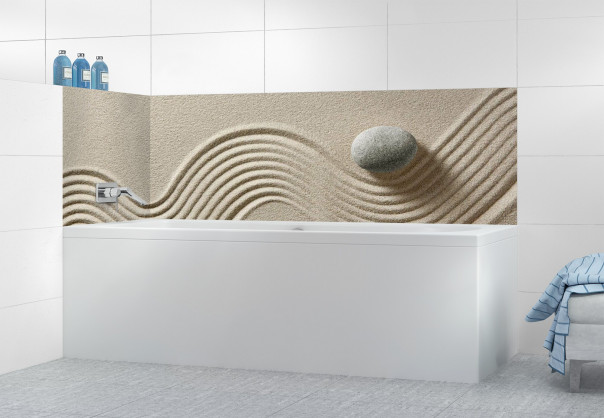 Panneau de bain Jardin japonais galet motif inversé