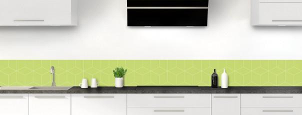 Crédence de cuisine Cubes en relief couleur vert olive dosseret