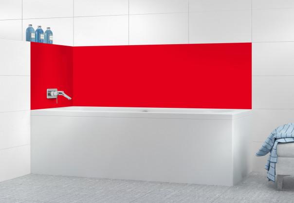 Panneau de bain Rouge vif