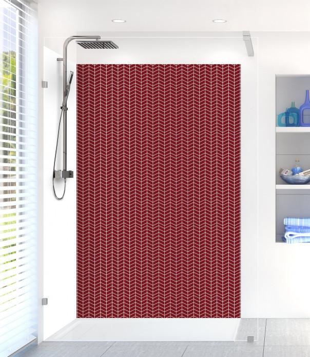 Panneau de douche Origami  couleur rouge pourpre