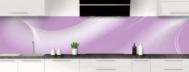 Crédence de cuisine Volute couleur parme panoramique