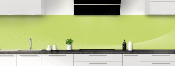 Crédence de cuisine Ombre et lumière couleur vert olive panoramique motif inversé