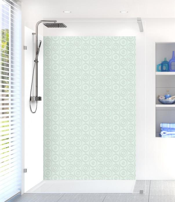 Panneau de douche Papier peint rétro couleur vert eau