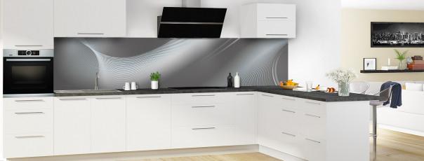 Crédence de cuisine Volute couleur gris carbone panoramique en perspective