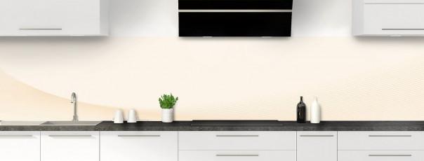 Crédence de cuisine Ombre et lumière couleur magnolia panoramique
