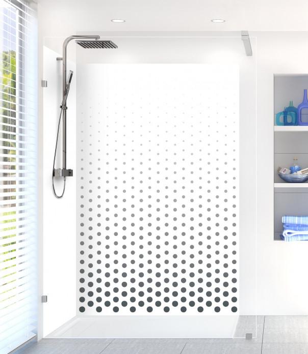 Panneau de douche Pluie de points couleur gris carbone