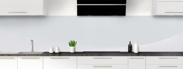 Crédence de cuisine Ombre et lumière couleur gris clair panoramique motif inversé