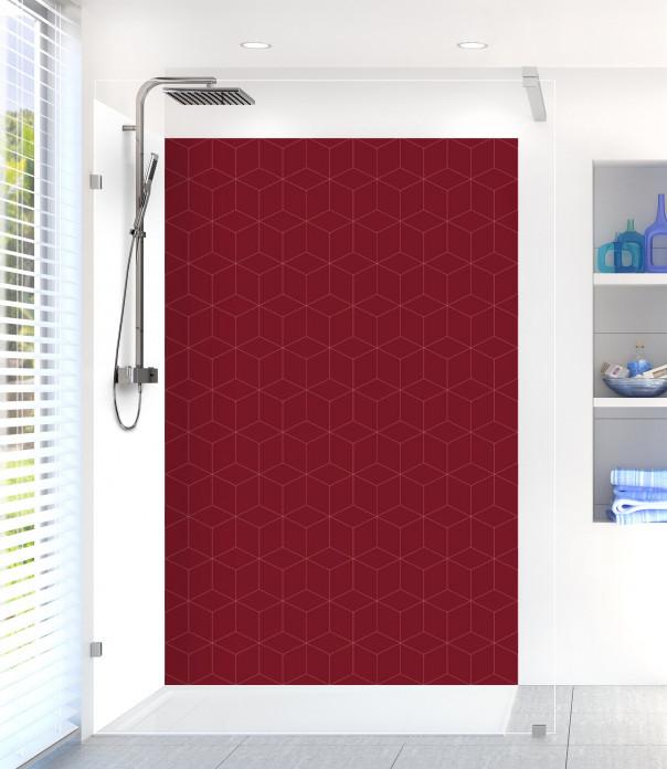 Panneau de douche Cubes en relief couleur rouge pourpre
