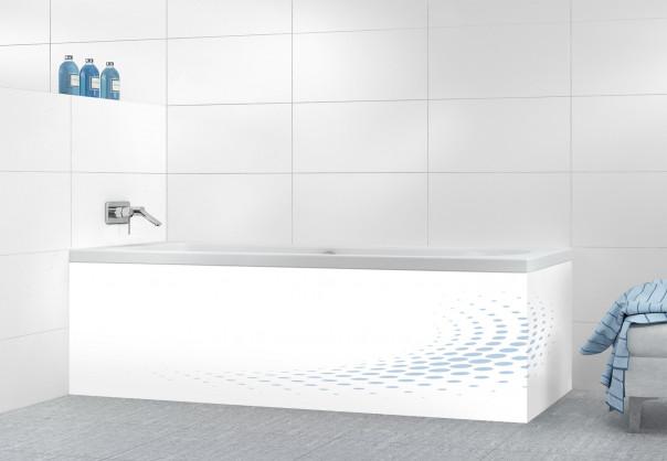 Panneau tablier de bain Nuage de points couleur bleu azur