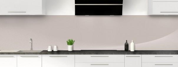 Crédence de cuisine Ombre et lumière couleur argile panoramique motif inversé