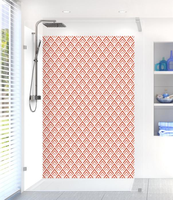 Panneau de douche Ecailles  couleur rouge brique