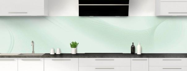 Crédence de cuisine Volute couleur vert eau panoramique motif inversé