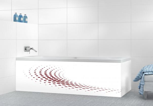 Panneau tablier de bain Nuage de points couleur rouge pourpre motif inversé