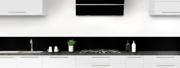 Crédence de cuisine Noir mat ardoise dosseret