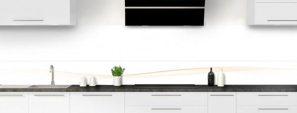 Crédence de cuisine Vague graphique couleur magnolia dosseret motif inversé