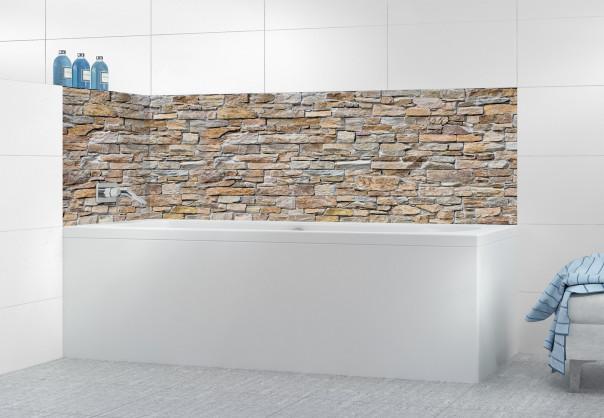 Panneau de bain Briques de roche beige