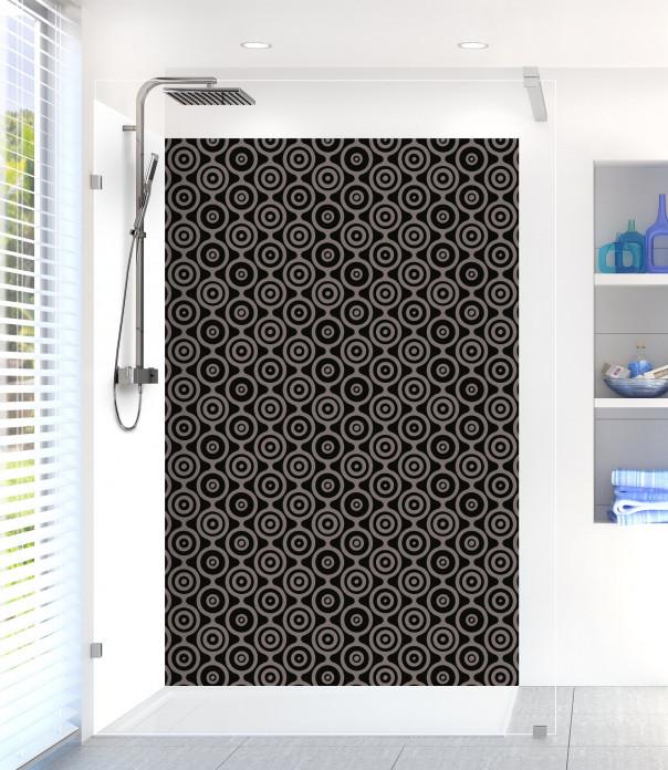 Panneau de douche Papier peint rétro couleur noir