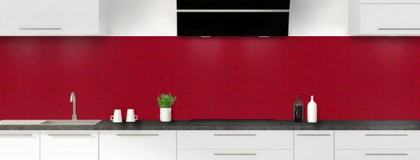 Crédence de cuisine Nid d'abeilles couleur rouge carmin panoramique