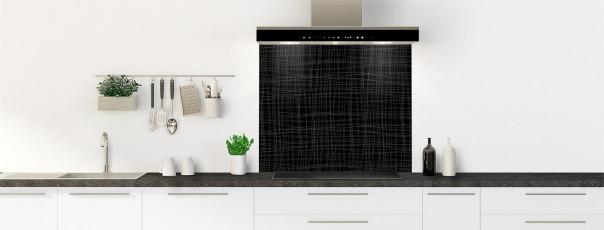 Crédence de cuisine Imitation tissus couleur noir fond de hotte