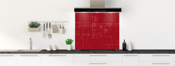 Crédence de cuisine Ardoise rayée couleur rouge carmin fond de hotte