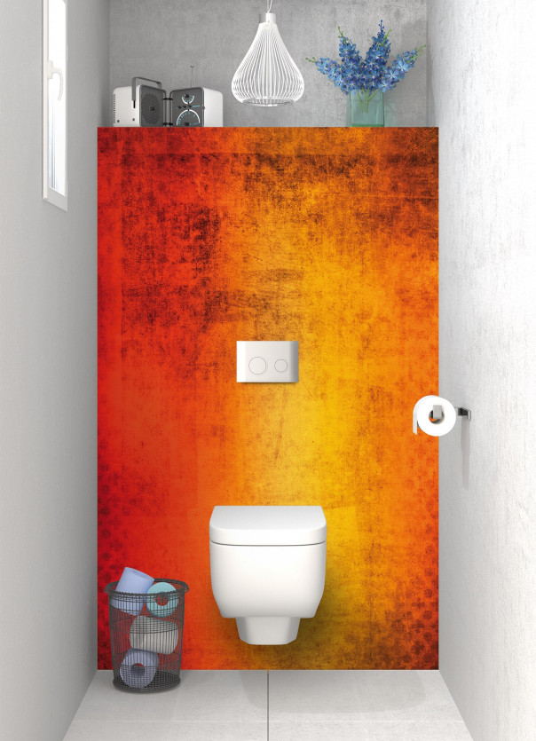 Panneau WC Métal rouillé