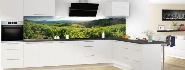 Crédence de cuisine Vignes panoramique motif inversé en perspective