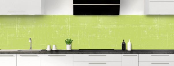 Crédence de cuisine Ardoise rayée couleur vert olive panoramique
