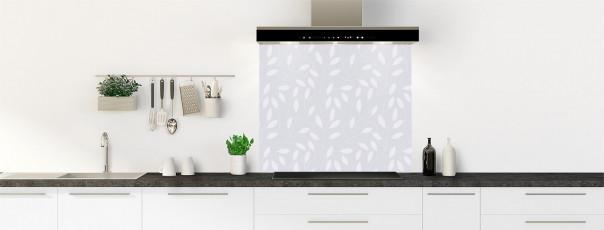Crédence de cuisine Rideau de feuilles couleur gris clair fond de hotte