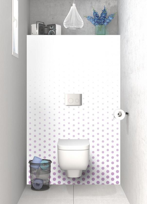 Panneau WC Pluie de points couleur parme