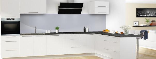 Crédence de cuisine Ombre et lumière couleur gris métal panoramique en perspective