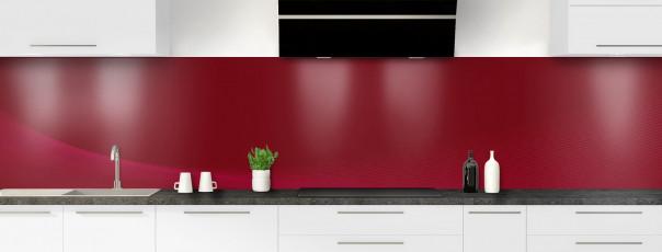 Crédence de cuisine Ombre et lumière couleur rouge pourpre panoramique