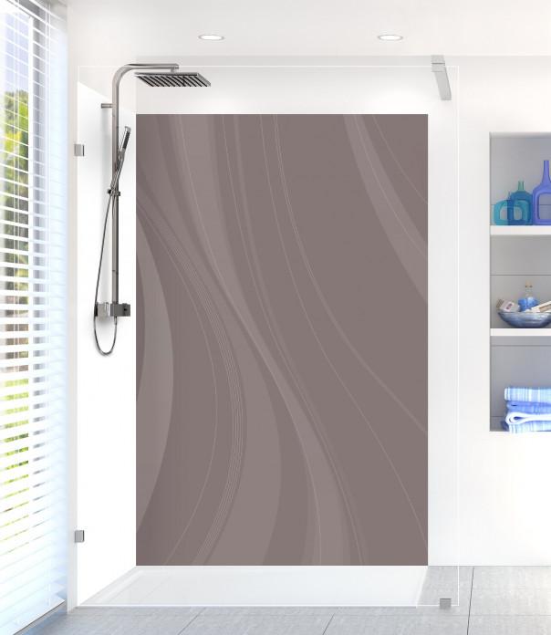 Panneau de douche Voilage couleur taupe