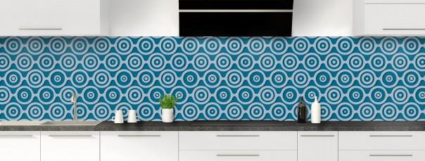 Crédence de cuisine Papier peint rétro couleur bleu baltic panoramique
