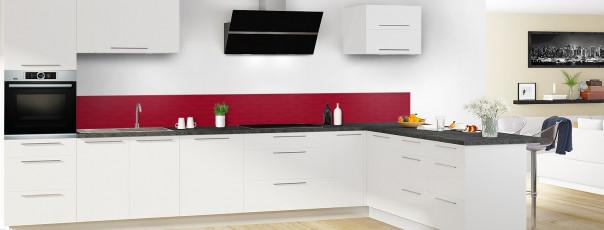 Crédence de cuisine Motif vagues couleur rouge carmin dosseret en perspective