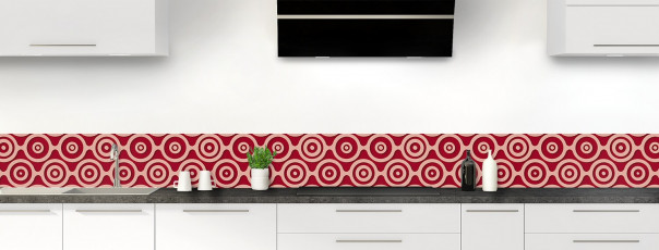 Crédence de cuisine Papier peint rétro couleur rouge carmin dosseret
